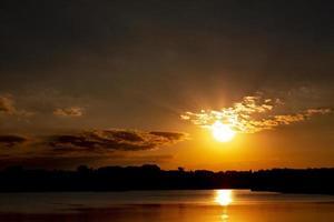 hermosa vista del amanecer foto