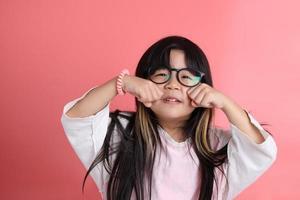 linda chica asiática foto