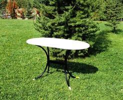 mesa y sillas de hierro foto