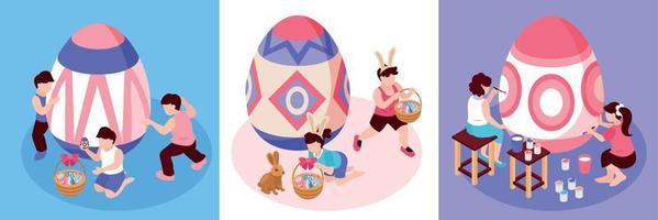 Easter Isometric Design Concept vector