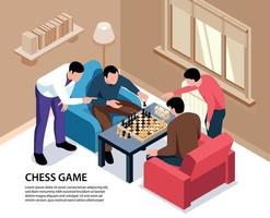 Home Chess Isometric Background vector