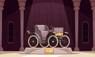 First Car Museum Composition vector