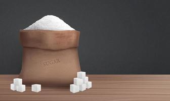 azúcar en la ilustración de saco vector