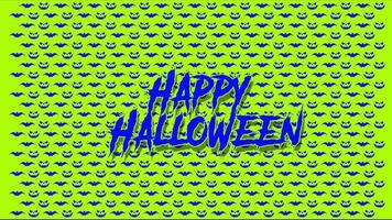 Happy Halloween holiday greetings free video background template