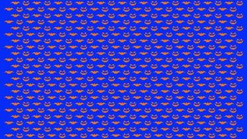 Halloween pattern looping background video free template