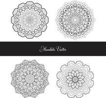 Vector hand drawn doodle mandala. Ethnic mandala