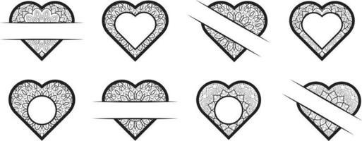 Heart Frame clipart collection vector