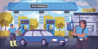 ilustración de la industria petrolera vector