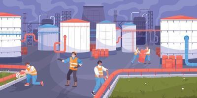 fondo de almacenamiento de aceite vector