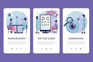 Ophthalmology Vertical App Banners vector