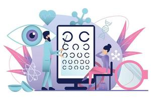 Ophthalmology Test Flat Composition vector