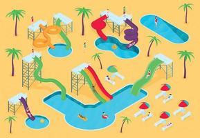 Water Aqua Park Composition vector