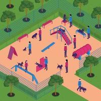 Dog Training Playground Composition vector