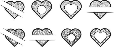Mandala Hearts Valentine's Day Bundle vector