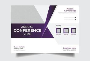 Horizontal Conference flyer vector template