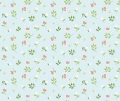 Small and cute floral pattern textile. vector