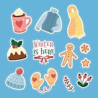 Winter Essential Cute Sticker vector