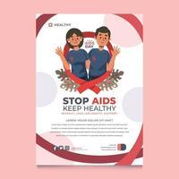 cartel del día mundial del sida vector