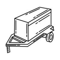 Generator Rental Set Icon Vector. Doodle Hand Drawn vector