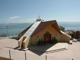 A modern mosque, a place of worship for Muslims photo