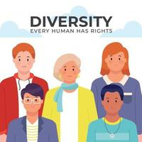 Every Human Has the Same Rights vector