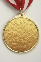 Medallion made of gold, silver and bronze photo