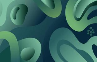 Green Abstract Shape Background vector