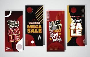 Black Friday Sale Card Set vector