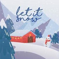 Winter Scenery Background vector