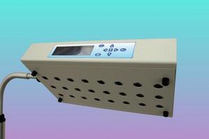 luz azul utilizada para el tratamiento de la ictericia en bebés recién nacidos foto