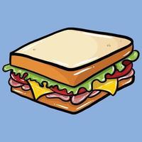 bread sandwich cartoon vector illustration