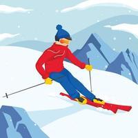 Ice Skiing Winter Sport Activity vector