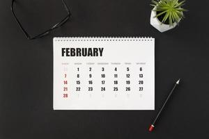 February month planner in the calendar photo