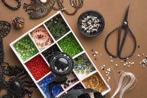 Top view of bead working essentials photo