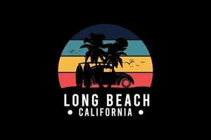 Long beach california,retro vintage style hand drawing illustration vector