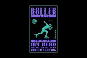 .Roller skate, design silhouette urban style vector