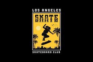 .Los angels skate, design silhouette urban style vector
