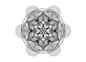 Seed of life symbol Sacred Geometry. Logo icon Geometric mystic mandala vector