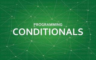 Programming conditionals concept illustration vector