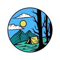 Camping adventure vector illustration