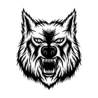 Wolf head mascot logo vector