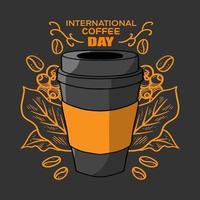 International coffee day vector illustration