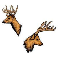 Deer head animal vector