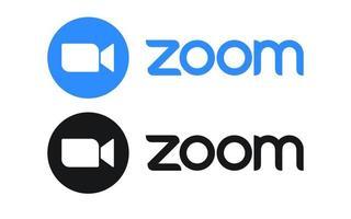 Zoom Video meeting app icon vector