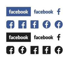 Facebook Icon Facebook logotype app vector collection