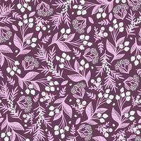 Fondo de vector transparente lila con bayas blancas