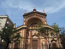 iglesia de santa bárbara en turín foto