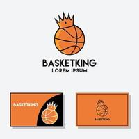 Basketball crown logo illustration. king sport vector graphic