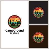 camping vector graphic. outdoor badge logo illustration