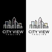 city landscape vector graphic. skyscraper building logo illustration